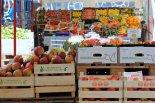 stragan z warzywami